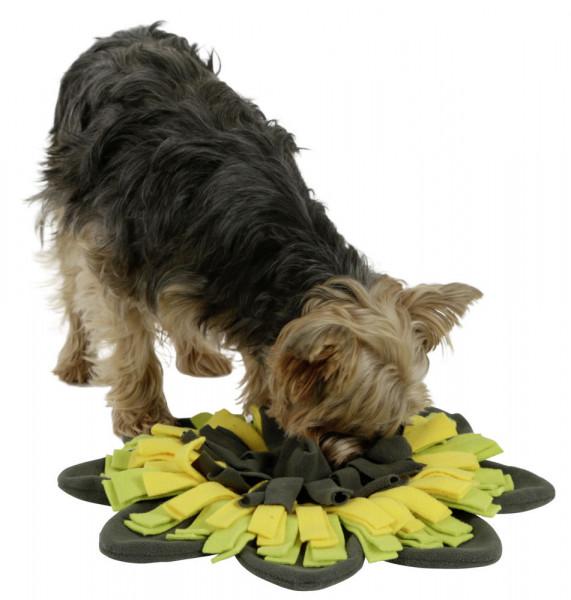 Schnüffelteppich Sunflower runder Teppich für langes Such- und Schnüffelspiel, Ø 60 cm