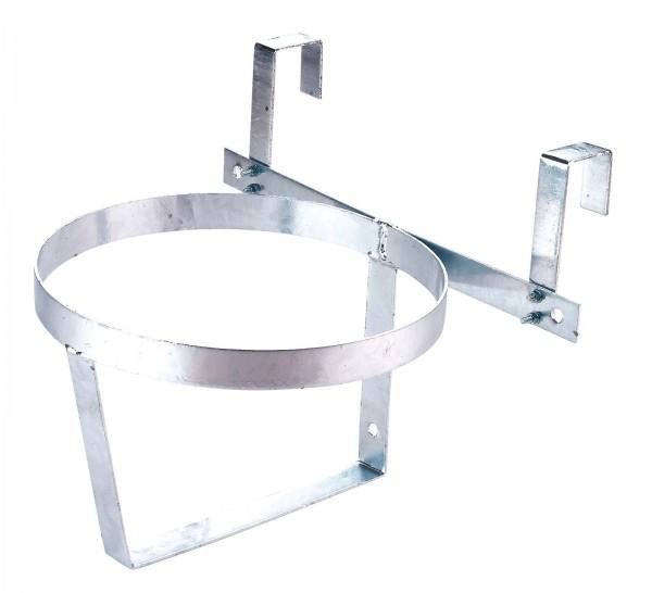 Eimerhalter zum Einhängen von Stalleimern an Gittern oder Türen