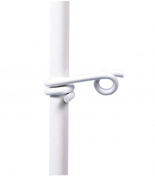 Oese/ Zusatzöse für Kunststoff-Pfähle, weiße Öse für Seile, Litzen und Bänder bis 10 mm Breite