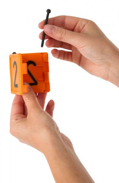 Ersatzstift aus Kunststoff, schwarz, für Halsbandnummer DUO
