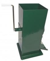 Rübenmühle Tischgerät, manuelle Handreibe mit Kurbel und Schneidtrommel aus Stahl