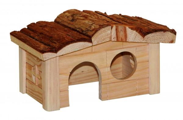 Aus 100% Holz gefertigtes Haus für Hamster und Mäuse