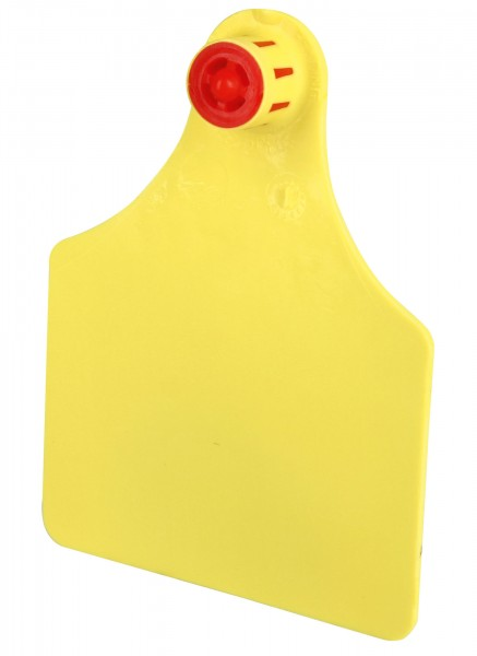 FlexoPlus Rinderohrmarken D/D, Farbe gelb, blanko, Lochteil