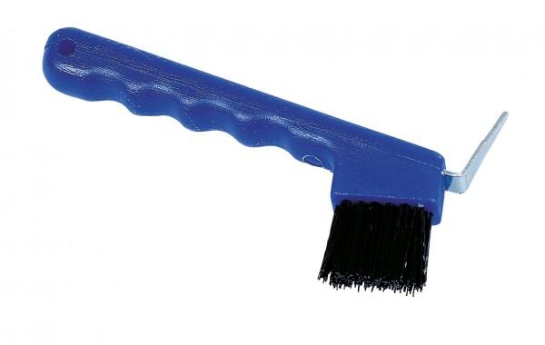 Hufkratzer mit Bürste aus robustem Kunststoff, zur Reinigung von Pferdehufen