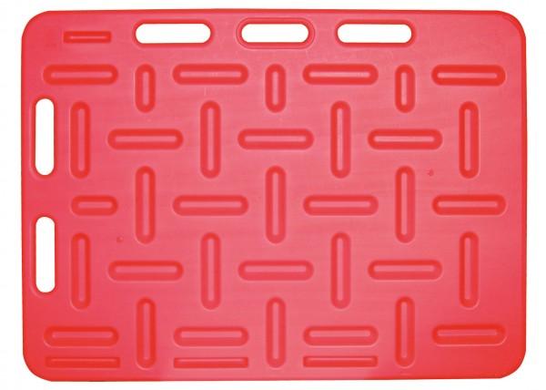 Schweinetreibbrett 94 x 76 cm aus bruchfestem Kunststoff, in der Farbe rot