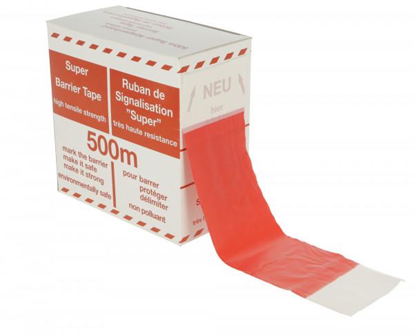 Folienabsperrband in den Signalfarben rot/weiß, in 3 Längen erhältlich