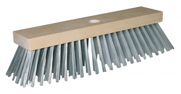 Stahldrahtbesen mit Metallborsten für besondere Beanspruchungen