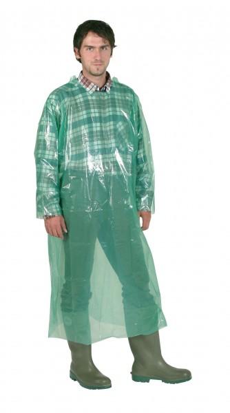 Einwegmantel grün, 20 Stück mit langen Ärmeln, unsterile Arbeitskleidung