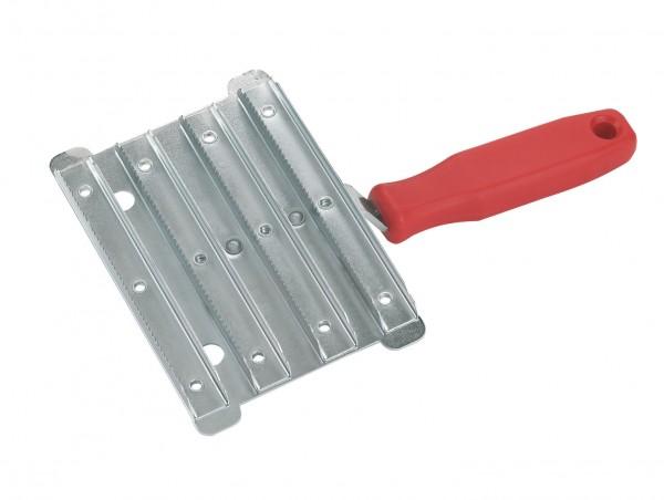 Metallstriegel grob, für Rinder geeignet, in verzinkter Ausführung