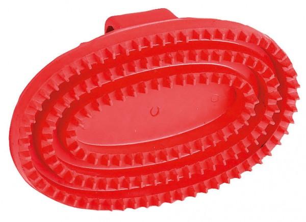 Gummistriegel oval mit Handschlaufe, 150 x 105 mm