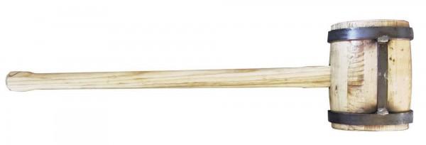 Holzschlegel 6 kg Eigengewicht mit angeschweißtem Flacheisen, extrem robust