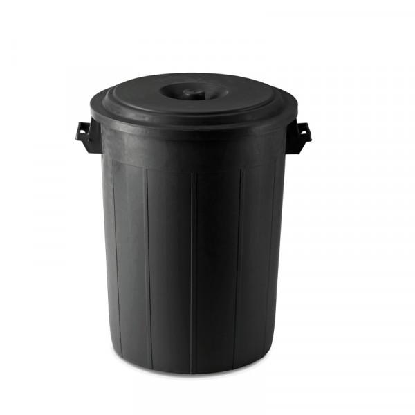 70 Liter Tonne mit Deckel aus widerstandsfähigem Kunststoff zur Verwendung als Futtertonne