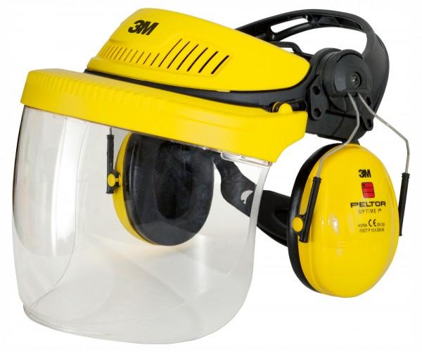 Gesichts- und Gehörschutzkombination, robuste Kopfhalterung zum Schutz von Gesicht und Kopf