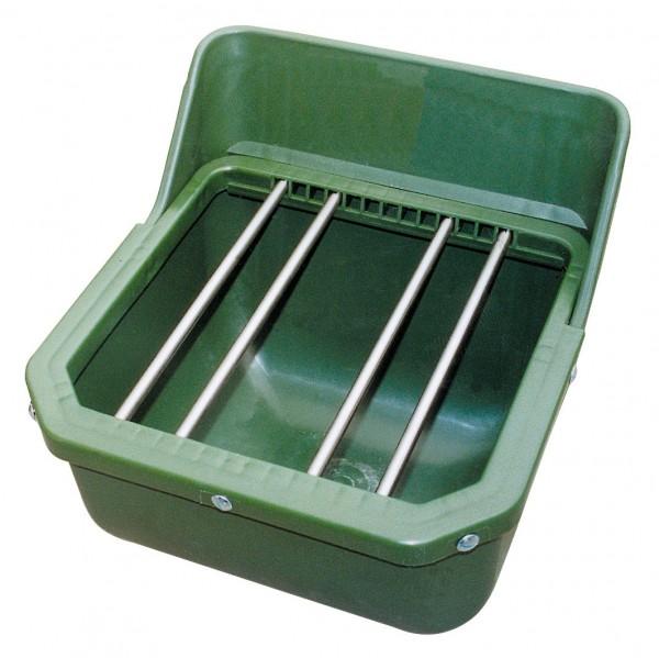 Futterbehälter für Fohlen und Kälber, Futtertrog mit Stangen, splitterfester Kunststoff