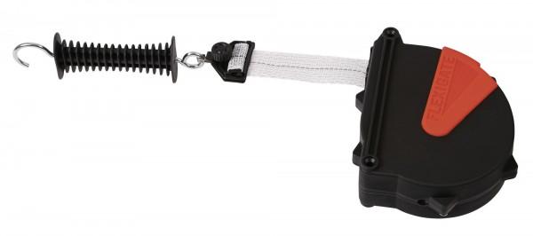 FlexiGate 7,5 m - das flexible Torsystem, Abb. mit 40 mm Weidezaunband und Torgriff