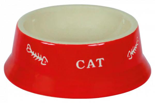 Napf aus Keramik mit Motiv, Wasser- oder Fressnapf für Tiere, spülmaschinenfest, hygienisch und leicht zu reinigen