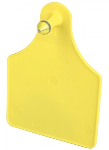 FlexoPlus Rinderohrmarken D/D, Farbe gelb, blanko, Dornteil