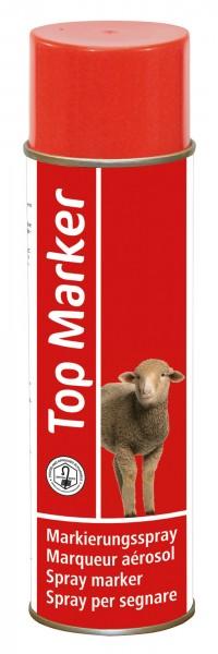 Schafmarkierungsspray in der Farbe rot, schnelle und einfache Kennzeichnung der Tiere, Farbe auswaschbar
