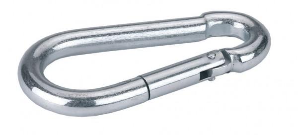 Einfacher Karabinerhaken verzinkt, für Anbindungen, 40 - 140 mm lang