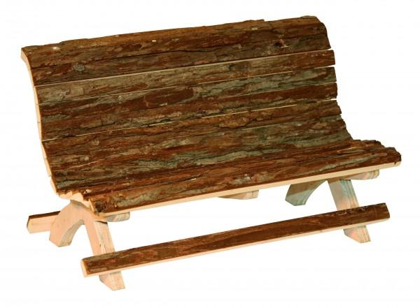 Niedliche, kunstvoll gearbeitete Bank aus 100% Naturholz
