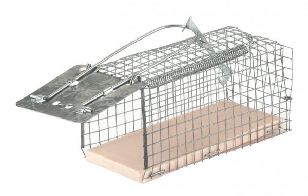 Drahtkäfig Mausefalle Alive mit Kunststoffboden und Fallklappe, Lebendfalle für Mäuse
