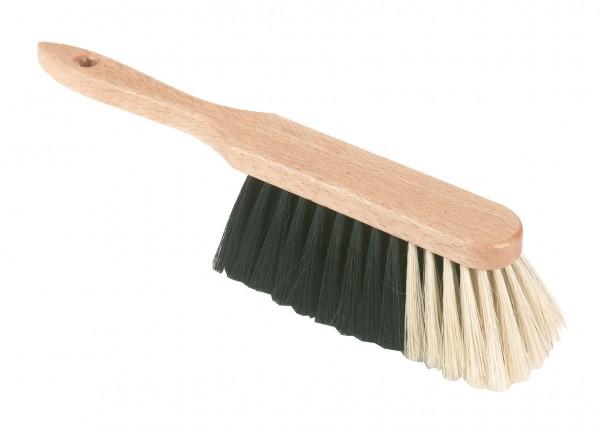 Weicher Handfeger aus Rosshaarmischung mit lackiertem Holzrücken