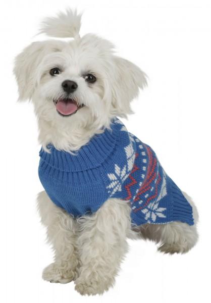 Kuscheliger Pullover für Hunde im Winterlook, mit Kragen