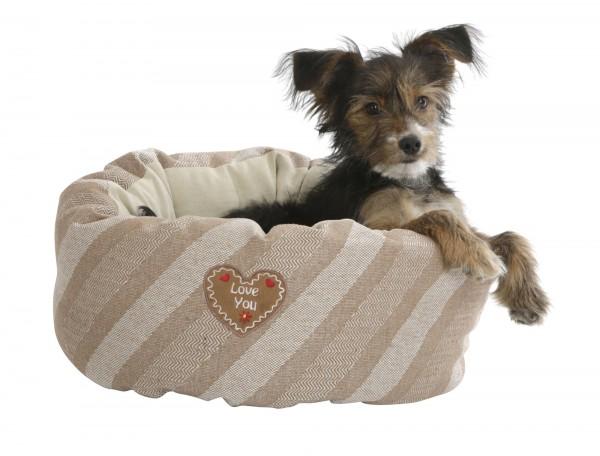 Welpenbett Love You mit Wendekissen, Kuschelbett für kleine Hunde und Katzen