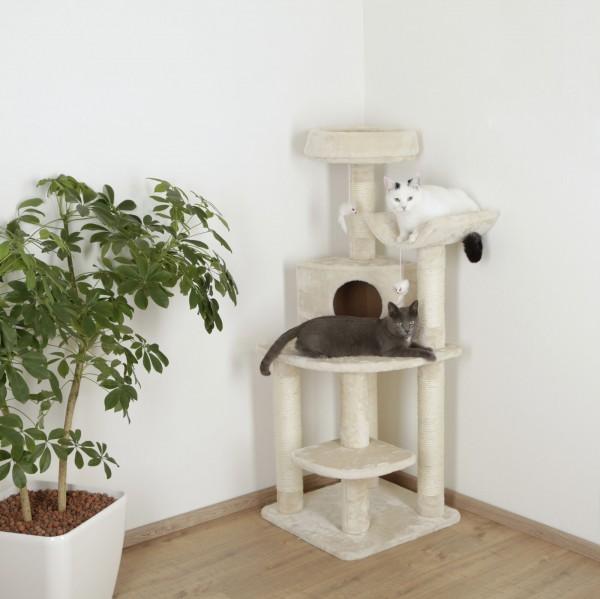 Eckkratzbaum Zirkonia für die Zimmerdecke, 130 cm hoch, in beige