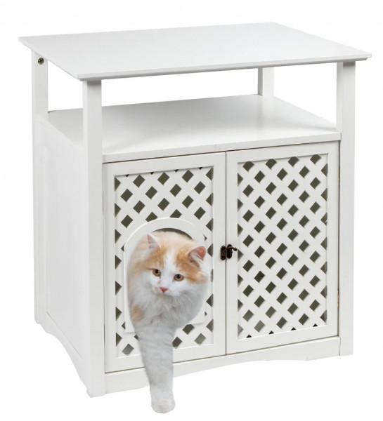 Katzenschrank Helena perfekt als Katzentoilette oder auch als Schlafhöhle